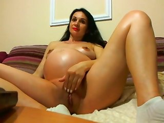 Mila Pregnant Romanian HUGE!!! Skype Show Webcam